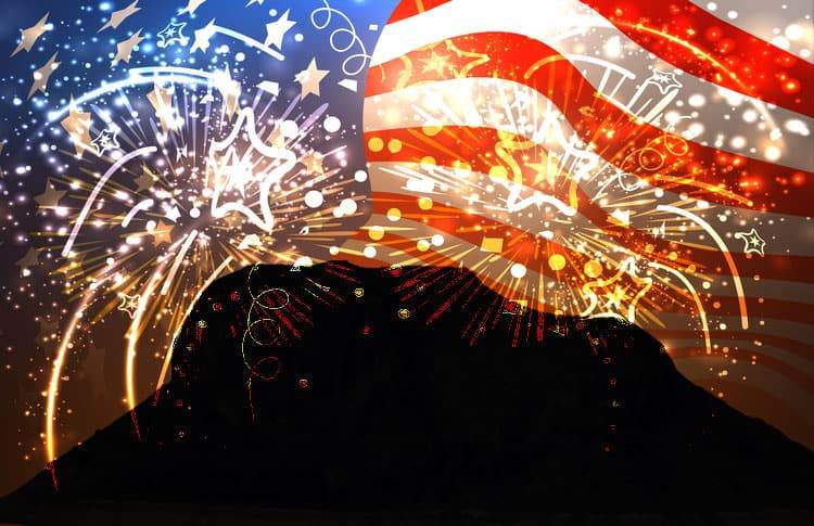Elephant Butte Lake 4th of July fireworks