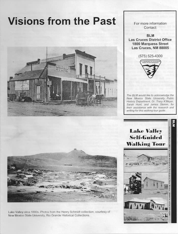Lake Valley brochure, cover