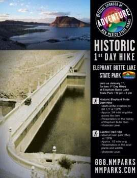 First Day Hike on Elephant Butte Dam - January 1, 2014