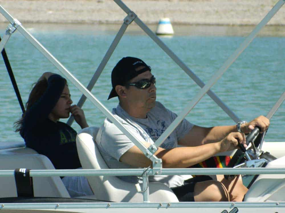 boating at Elephant Butte Lake