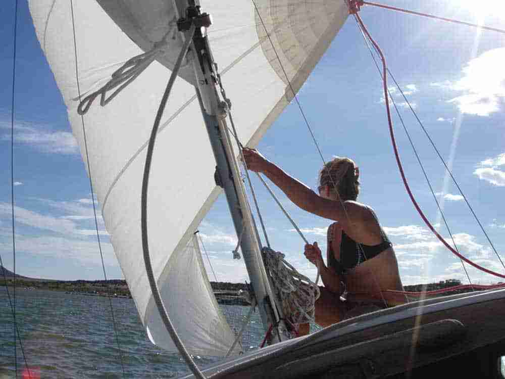 sail boating at Elephant Butte Lake