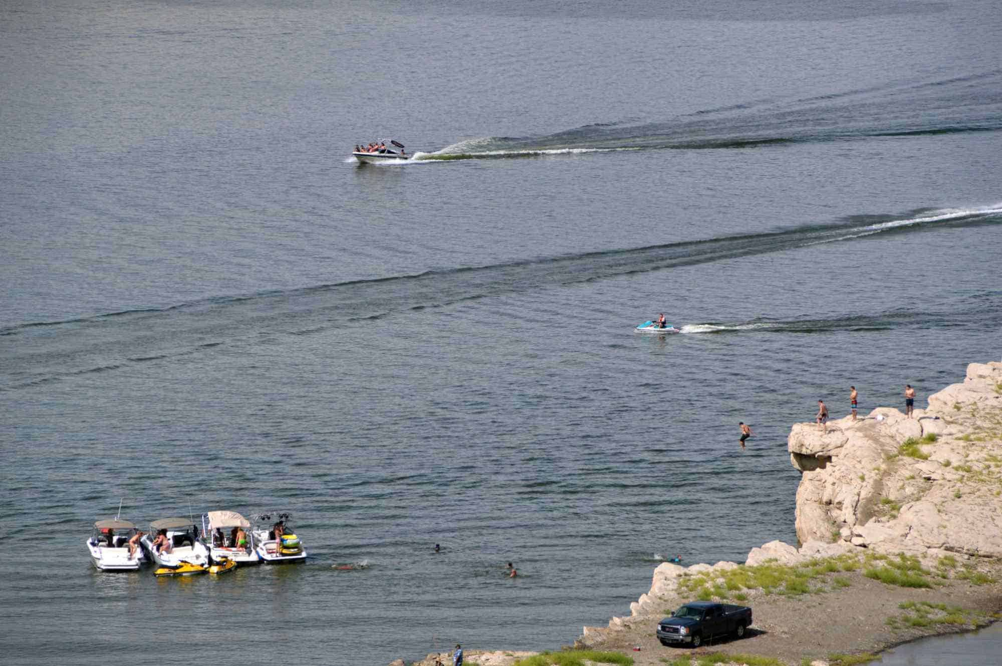 boating and swimming  at Elephant Butte Lake