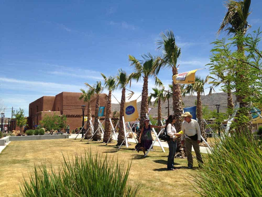 Healing Waters Plaza, downtown Truth or Consequences