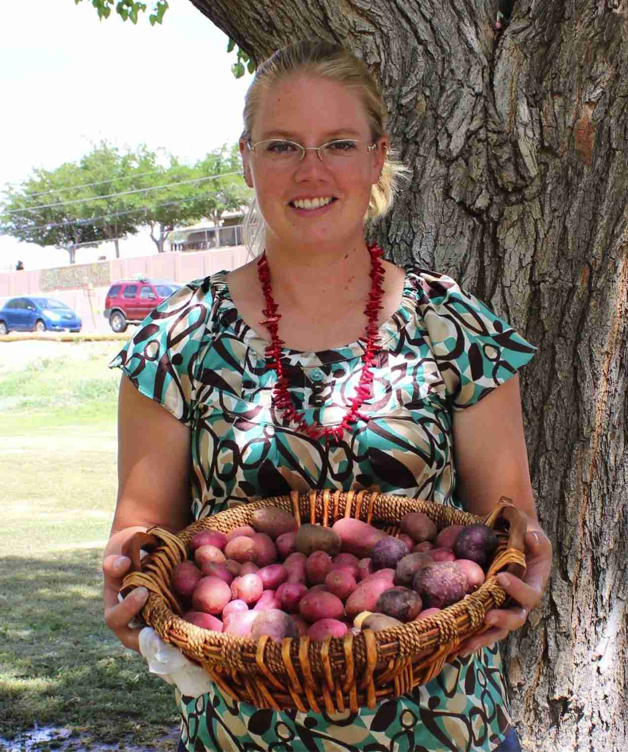 monticello-grown potatoes from South 40 Farm